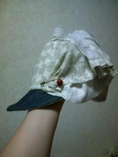 ニットの帽子☆